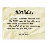 Números del cumpleaños 6-24 tarjeta postal