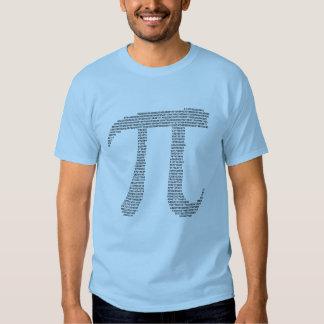 Números del fractal del pi camiseta