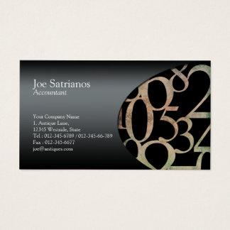 Números del lado de la tarjeta de visita del