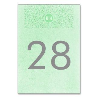 Números florales de la tabla del monograma del
