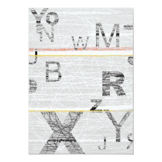 Números grises invitación 12,7 x 17,8 cm