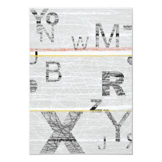 Números grises invitación 8,9 x 12,7 cm