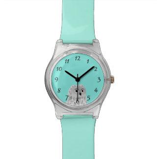 Números lindos de la turquesa del búho reloj de pulsera