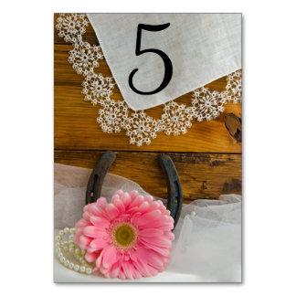 Números occidentales rosados de la tabla de la
