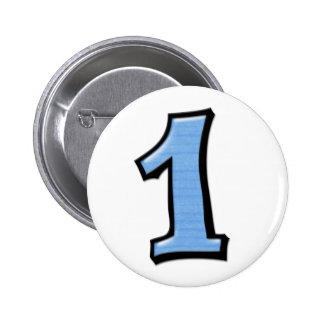 Números tontos 1 botón azul