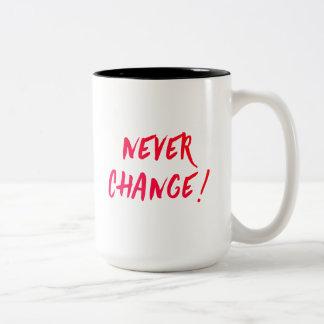nunca cambie el color del personalizar de la taza