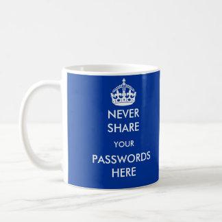 Nunca comparta sus contraseñas aquí asaltan tazas de café