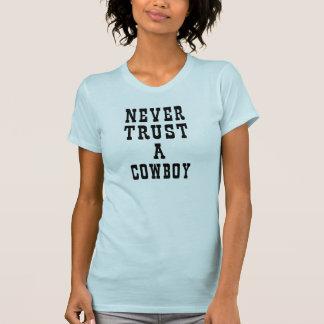 Nunca confíe en una camiseta Tumblr del vaquero