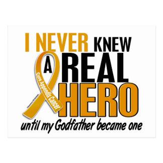 Nunca conocía a un cáncer del apéndice del padrino postal