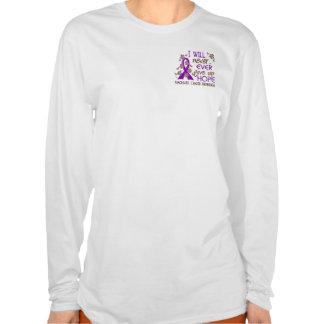Nunca dé para arriba al cáncer pancreático de la camiseta
