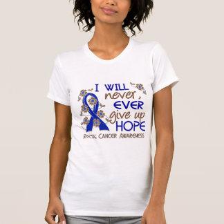 Nunca dé para arriba al cáncer rectal de la camiseta