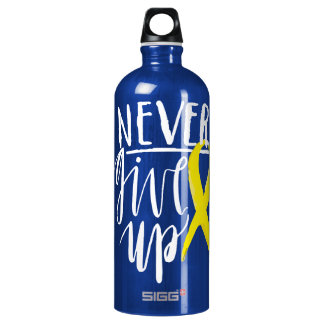 NUNCA DÉ PARA ARRIBA al viajero (1.0L), azul Botella De Agua