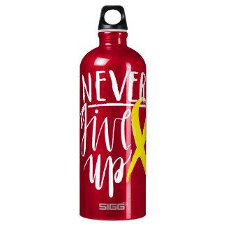 NUNCA DÉ PARA ARRIBA al viajero (1.0L), rojo Botella De Agua