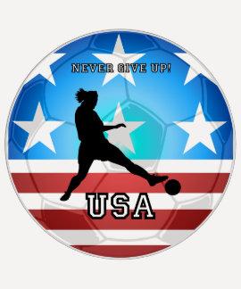 nunca dé para arriba el fútbol de los E.E.U.U. Camisetas