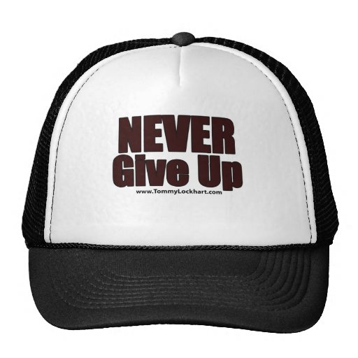 Nunca dé para arriba gorras de camionero