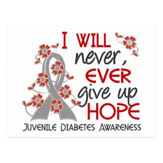 Nunca dé para arriba la diabetes juvenil de la postal