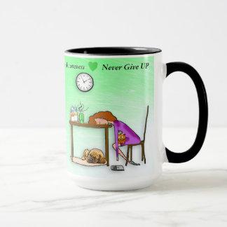 Nunca dé para arriba la taza de café del guerrero