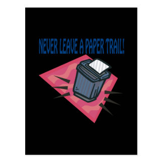 Nunca deje un rastro escrito postal