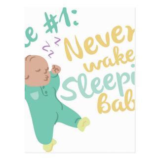 Nunca despierte al bebé postal