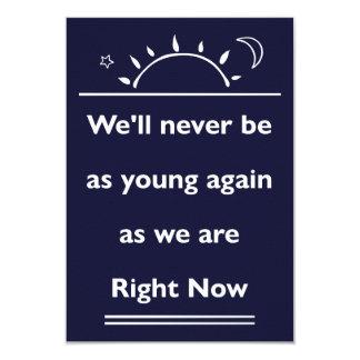 Nunca estaremos como los jóvenes van de fiesta invitación 8,9 x 12,7 cm