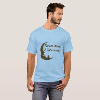 Nunca esté en la luna una camisa del hombre lobo