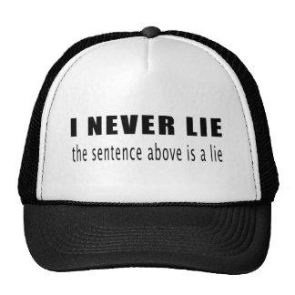 Nunca miento. La frase antedicha es una mentira Gorro