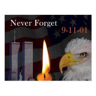 Nunca olvide 9-11-01 postal