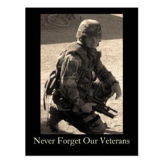 Nunca olvide a nuestros veteranos postal