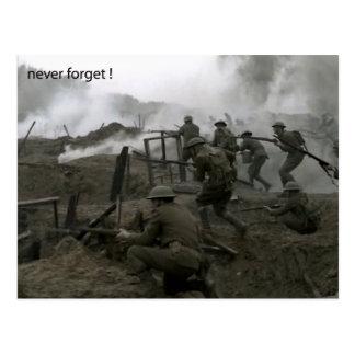 Nunca olvide la postal del día de la conmemoración