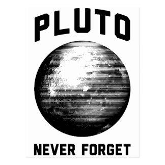 Nunca olvide Plutón Postal