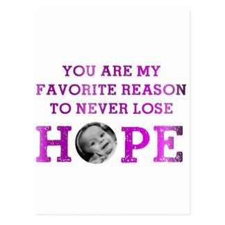 Nunca pierda la esperanza - Mckenna Tarjeta Postal
