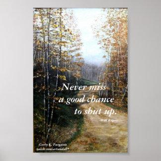 NUNCA POSTER DE SRTA. A GOOD CHANCE-WILL ROGERS PÓSTER