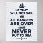 Nunca puesto al mar - impresión posters