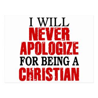 Nunca se disculpa por ser un cristiano postal