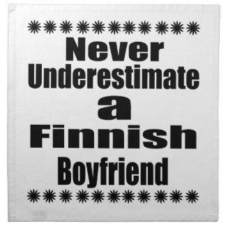 Nunca subestime a un novio finlandés servilleta de tela