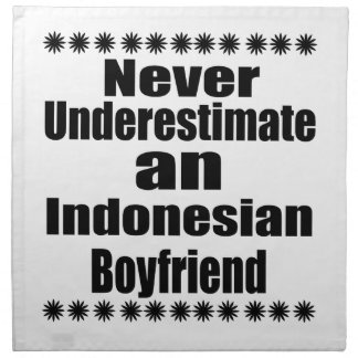 Nunca subestime a un novio indonesio servilleta de tela