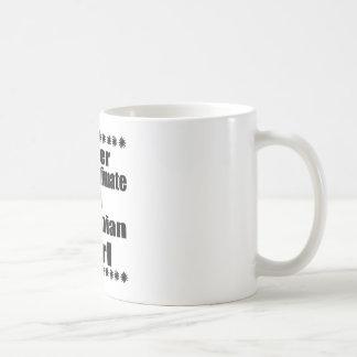 Nunca subestime a una novia tanzana taza de café