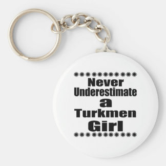 Nunca subestime a una novia turcomana llavero redondo tipo chapa