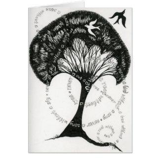 Nunca una raíz sin una tarjeta de nota del árbol