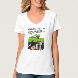 Nunca yendo a volar camisetas