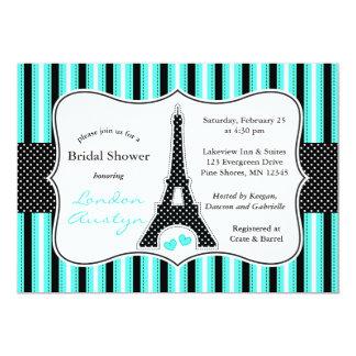 │ nupcial Tiffany de las invitaciones de la ducha