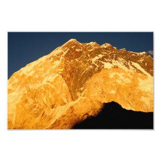Nuptse Alpenglow Impresiones Fotograficas