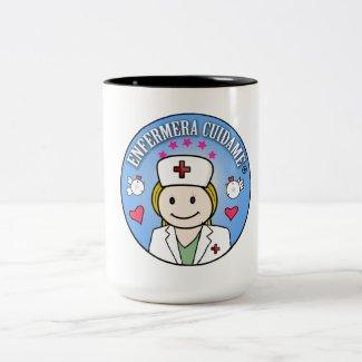 Enfermera Cuidame Plis Rubia y Azul