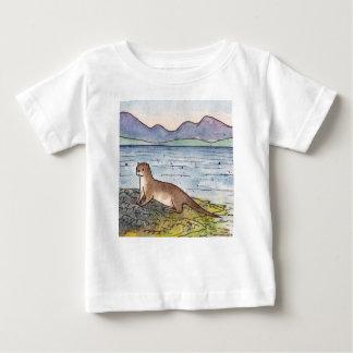 nutria del lago camiseta de bebé