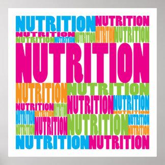 Nutrición colorida póster