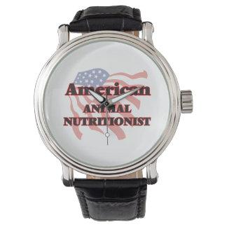 Nutricionista animal americano reloj