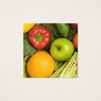 Nutricionista colorido elegante simple de las tarjeta de visita cuadrada