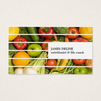 Nutricionista colorido moderno único de las tarjeta de negocios