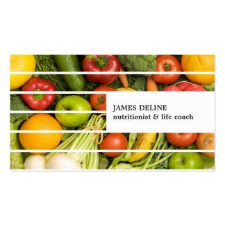 Nutricionista colorido moderno único de las tarjetas de visita