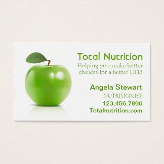 Nutricionista con Apple Tarjeta De Negocios